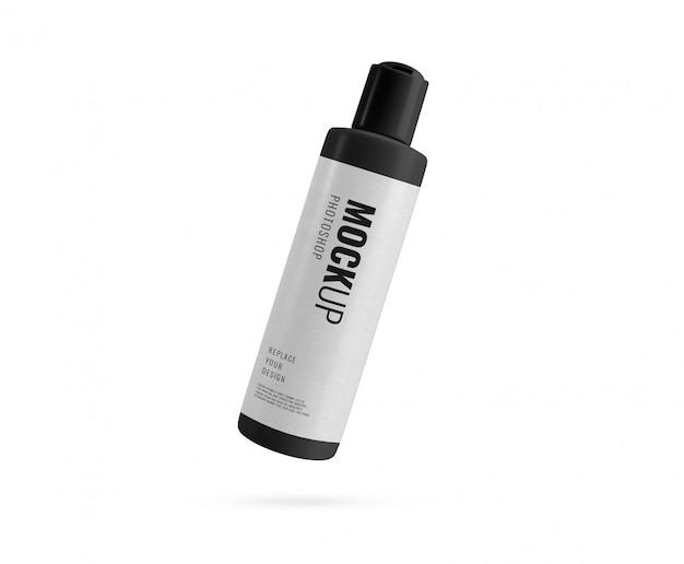 高級ブラックボトルフリップリッドボトルレンダリング Premium Psd