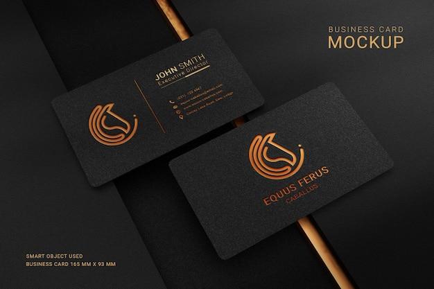 Роскошный макет логотипа визитки с эффектом тиснения фольгой Premium Psd