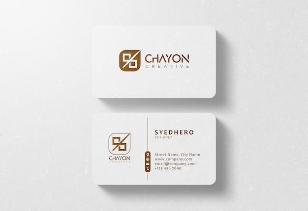 Luxury business card mockup