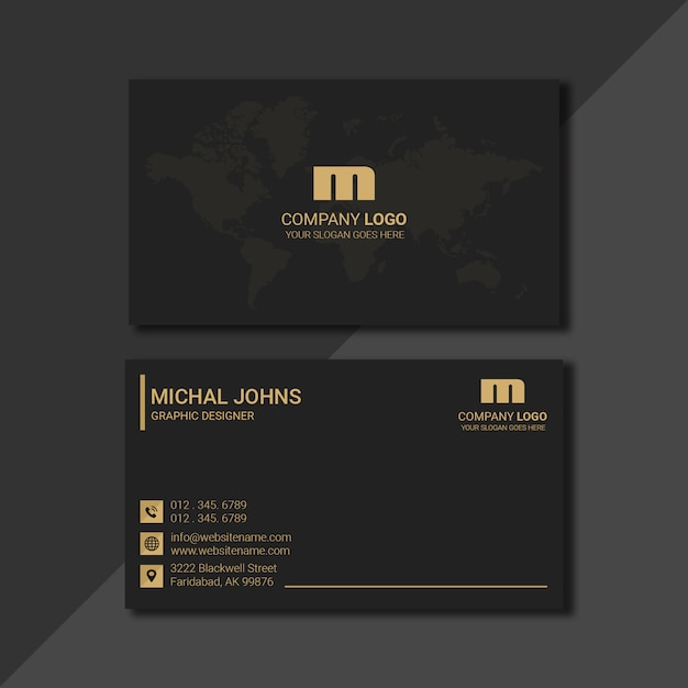 Luxury gold business card Premium Psd