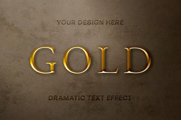 gethinh - ảnh Psd cao cấp Hiệu ứng chữ vàng sang trọng