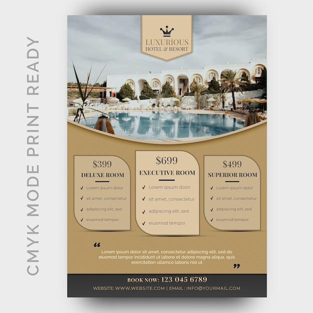 Luxury Hotel Template For Poster Flyer Magazine Page Psd File