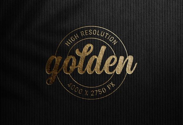 Luxury logo mockup on black paper Premium Psd