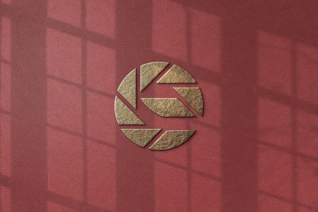 고립 된 럭셔리 로고 모형 디자인 프리미엄 PSD 파일