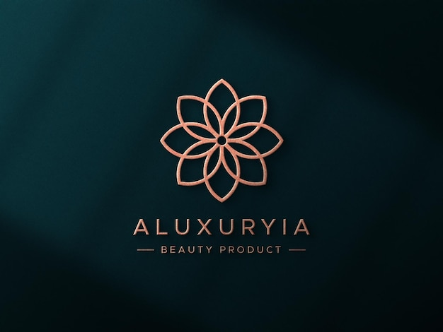 Роскошный макет логотипа на стене 3d Premium Psd