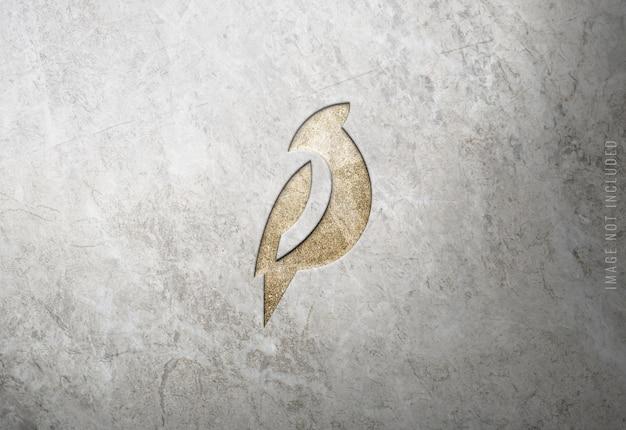 Роскошный макет логотипа на мраморной текстуре Premium Psd