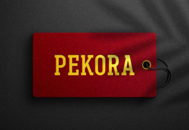 빨간 걸림 새 꼬리표에 럭셔리 로고 이랑 프리미엄 PSD 파일