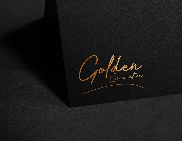 Luxury logo mockup on paper Premium Psd