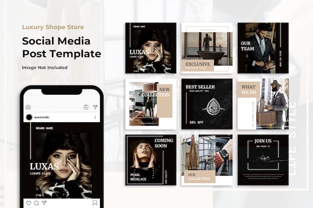 Роскошный минималистский элегантный социальный медиа баннер шаблоны instagram Premium Psd