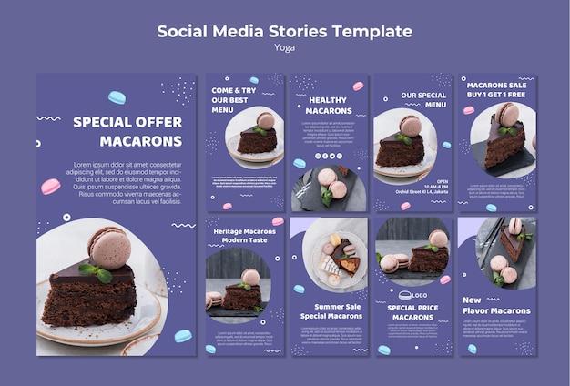 Modello di storie di social media concetto macarons Psd Gratuite