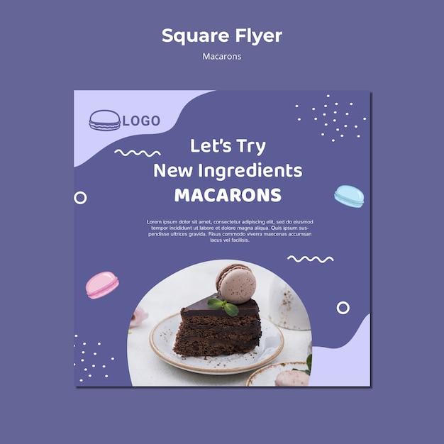 Modello di volantino quadrato concetto macarons Psd Gratuite