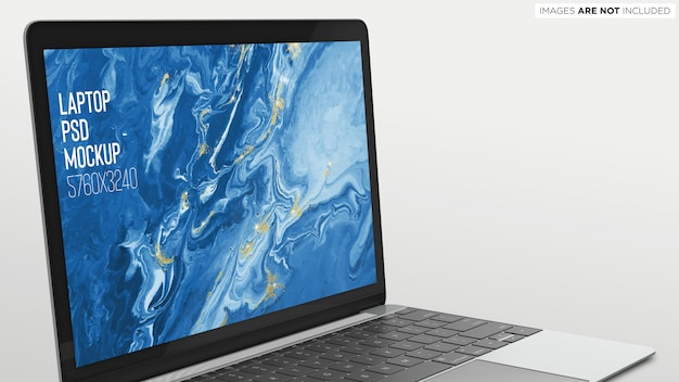 Macbook pro psd mockup close view Premium Psd