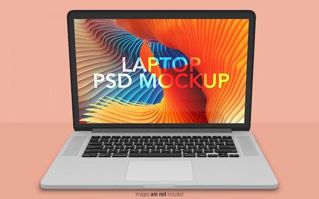 Macbook pro psd макет вид спереди Premium Psd