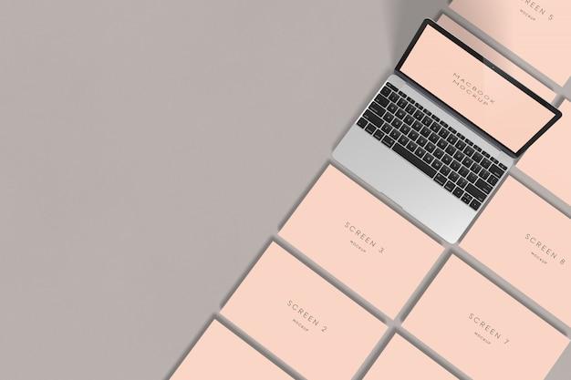 Макет экрана macbook Premium Psd