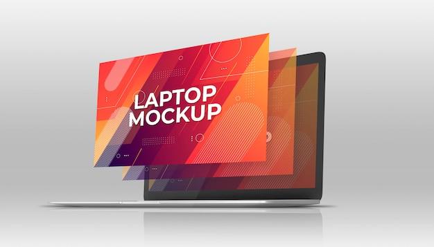 ラップトップmackbookモックアップ Premium Psd