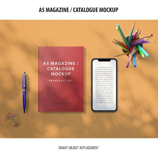 잡지 카탈로그 이랑 무료 PSD 파일