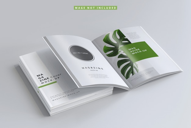 Magazine cover and inner pages mockups Premium Psd