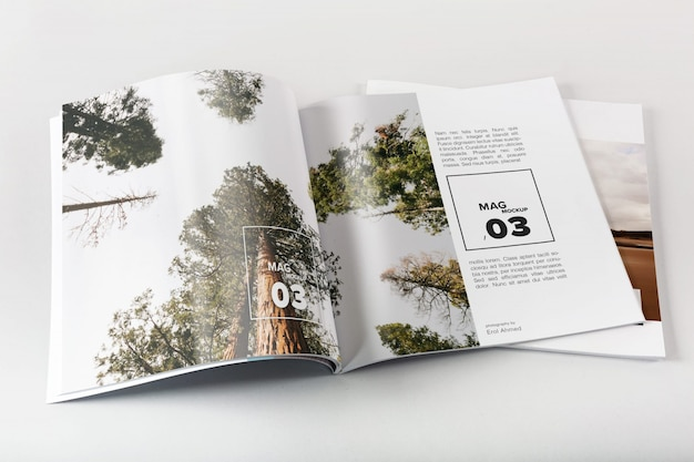 Magazine mock up design Premium Psd