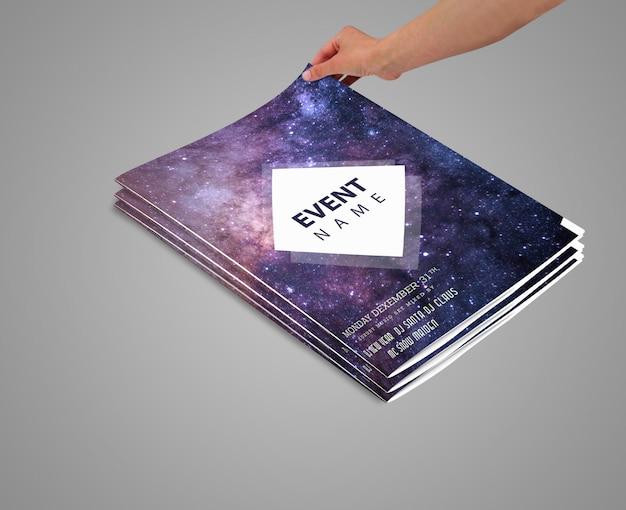 Magazine mock up design Premium Psd