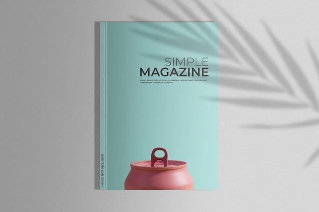 Макет журнала с тенью пальмы Бесплатные Psd