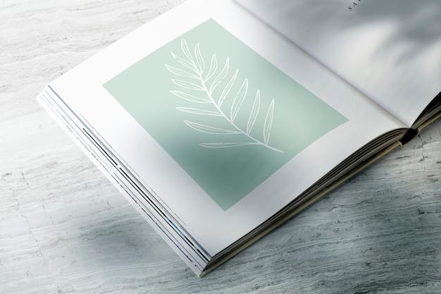 잎 잡지 이랑 무료 PSD 파일