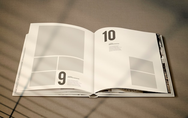Magazine mockup with a blank space Free Psd