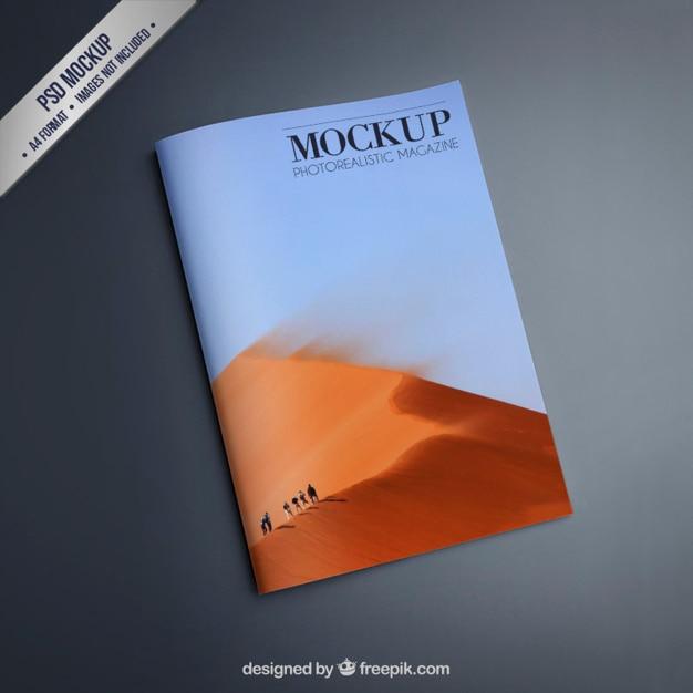 Magazine Mockup PSD File