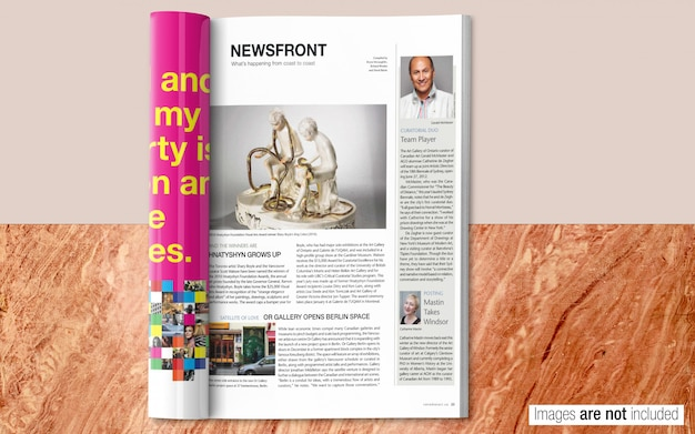 Magazine psd mockup Premium Psd