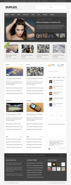 Magazine Style Site Layout (PSD) PSD file | Free Download