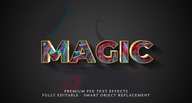 Magic text style effect psd , premium psd text effects Premium Psd