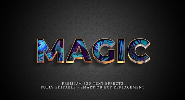 Magic text style effect psd , psd text effects Premium Psd