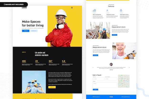 Make spaces for better living website page Premium Psd