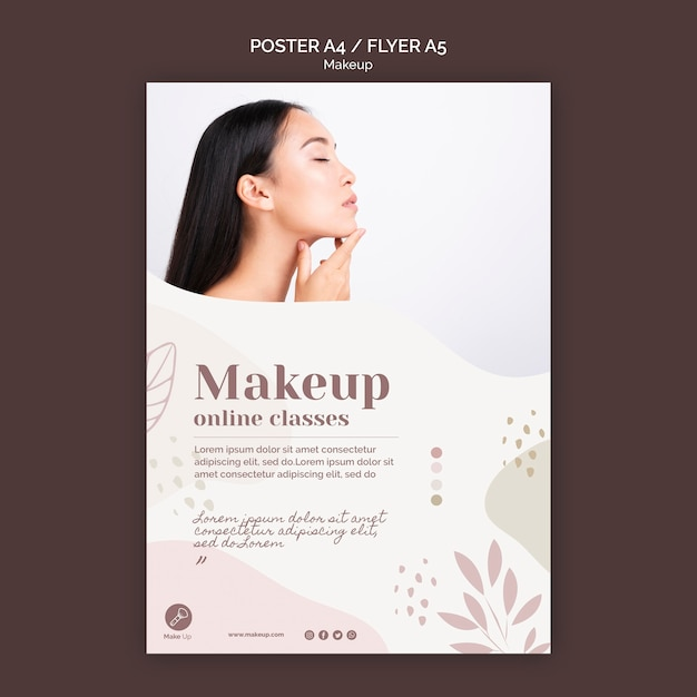 Make-up concept poster template Free Psd