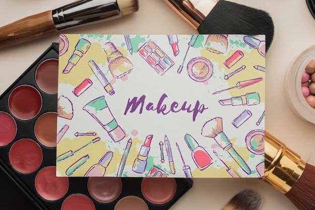 Makeup cosmetic products for women Free Psd