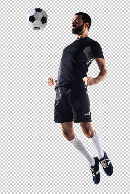 Man playing football Premium Psd
