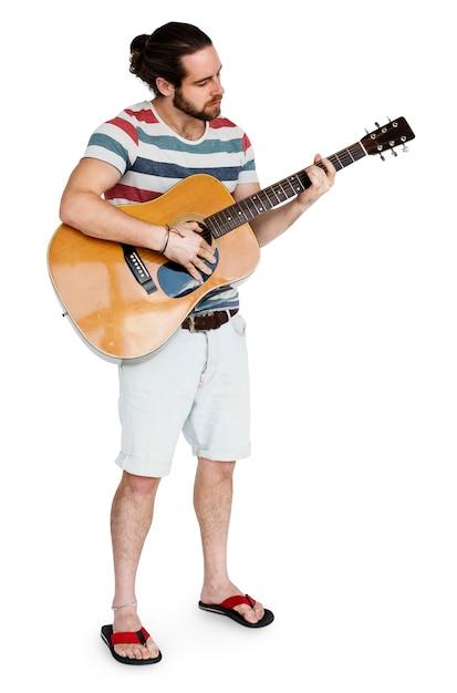 Man playing guitar Free Psd