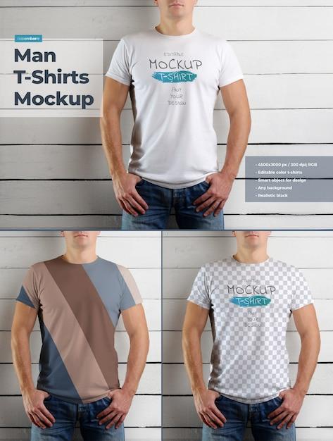 남자 티셔츠 모형 프리미엄 PSD 파일