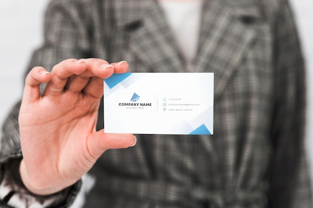 Man with business card Free Psd