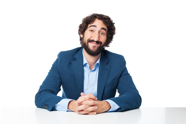 Man with folded hans Free Psd