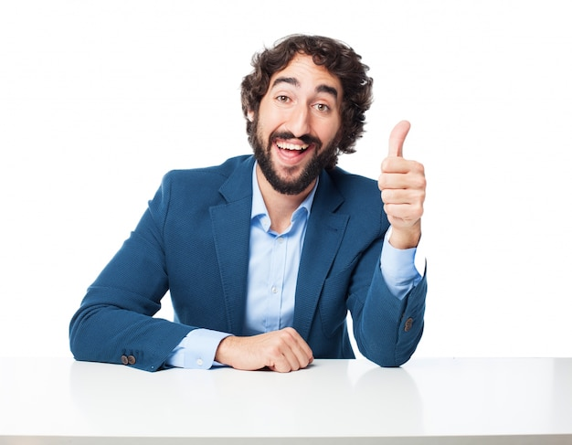 Man with a thumb up Free Psd
