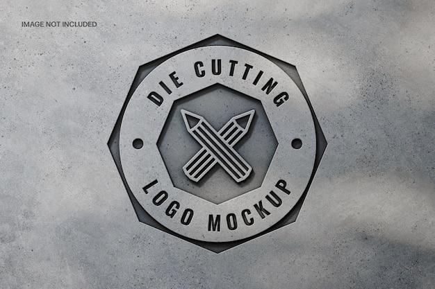 구체적인 로고 모형 디자인 제작 프리미엄 PSD 파일