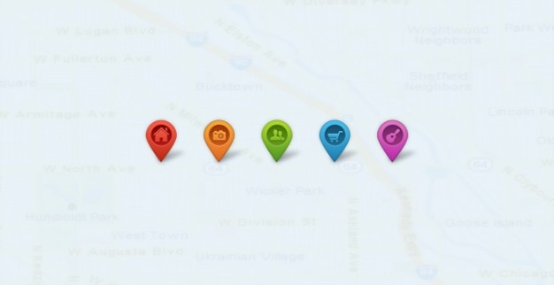 Map map pointer pointer Free Psd