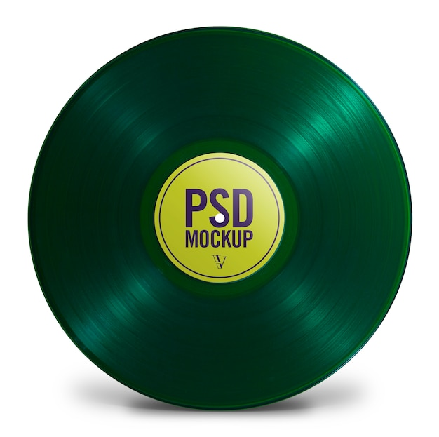Цветной виниловый макет - maquete vinil colorido Premium Psd
