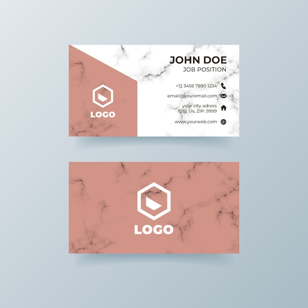 Marble business card Free Psd