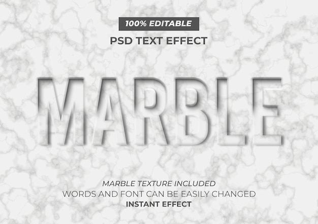 Marble text effect Free Psd