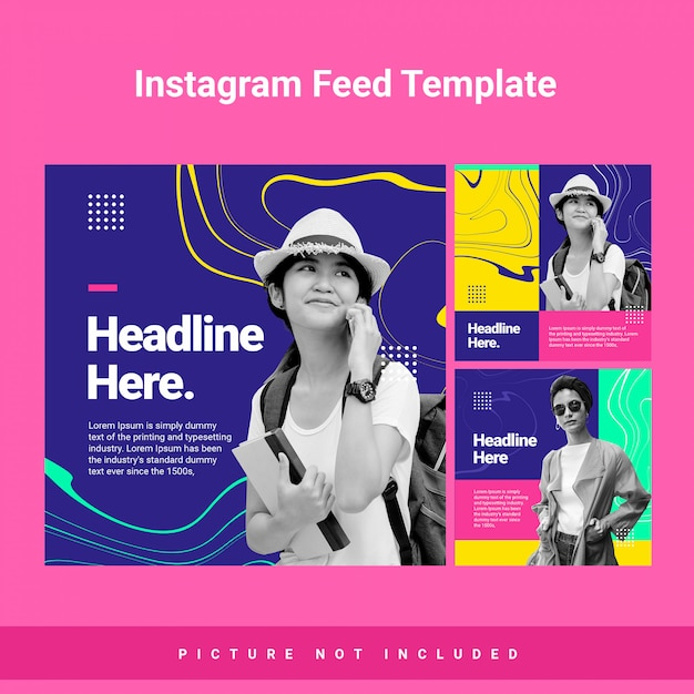 Marble wave instagram sotry template Premium Psd