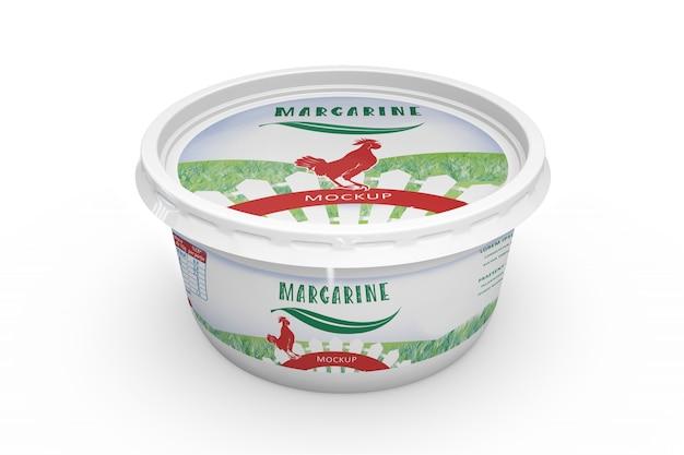 Margarine packaging mockup Free Psd