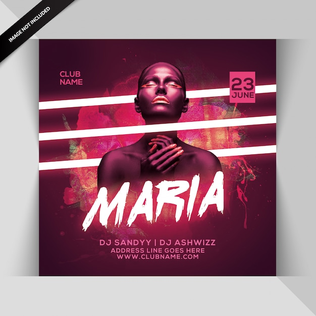 Maria party flyer Premium Psd
