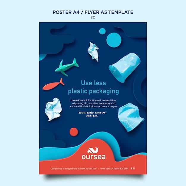 Modello di poster del workshop sull'ambiente marino Psd Gratuite
