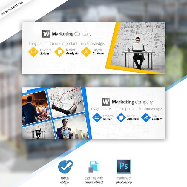 Marketing business facebook covers Premium Psd